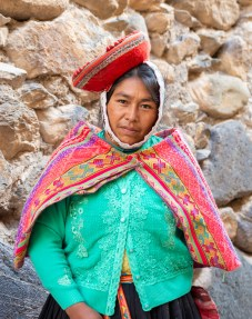 People in Ollantaytambo Sacred Valley Peru