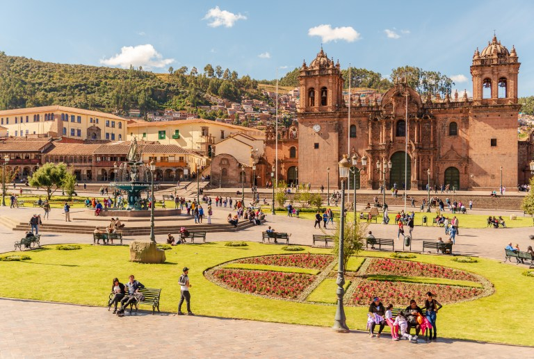 Plaza De Armas Cusco Peru Day From Capuccino Cafe