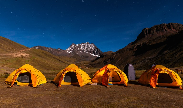 Base Camp The Ausangate Rainbow Mountains of Peru Apu Winicunca