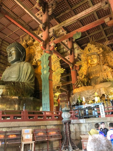 Giant Buddha housed in the largest wooden structure on the planet