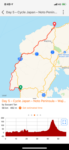 Day 6 – Togi to Wajima