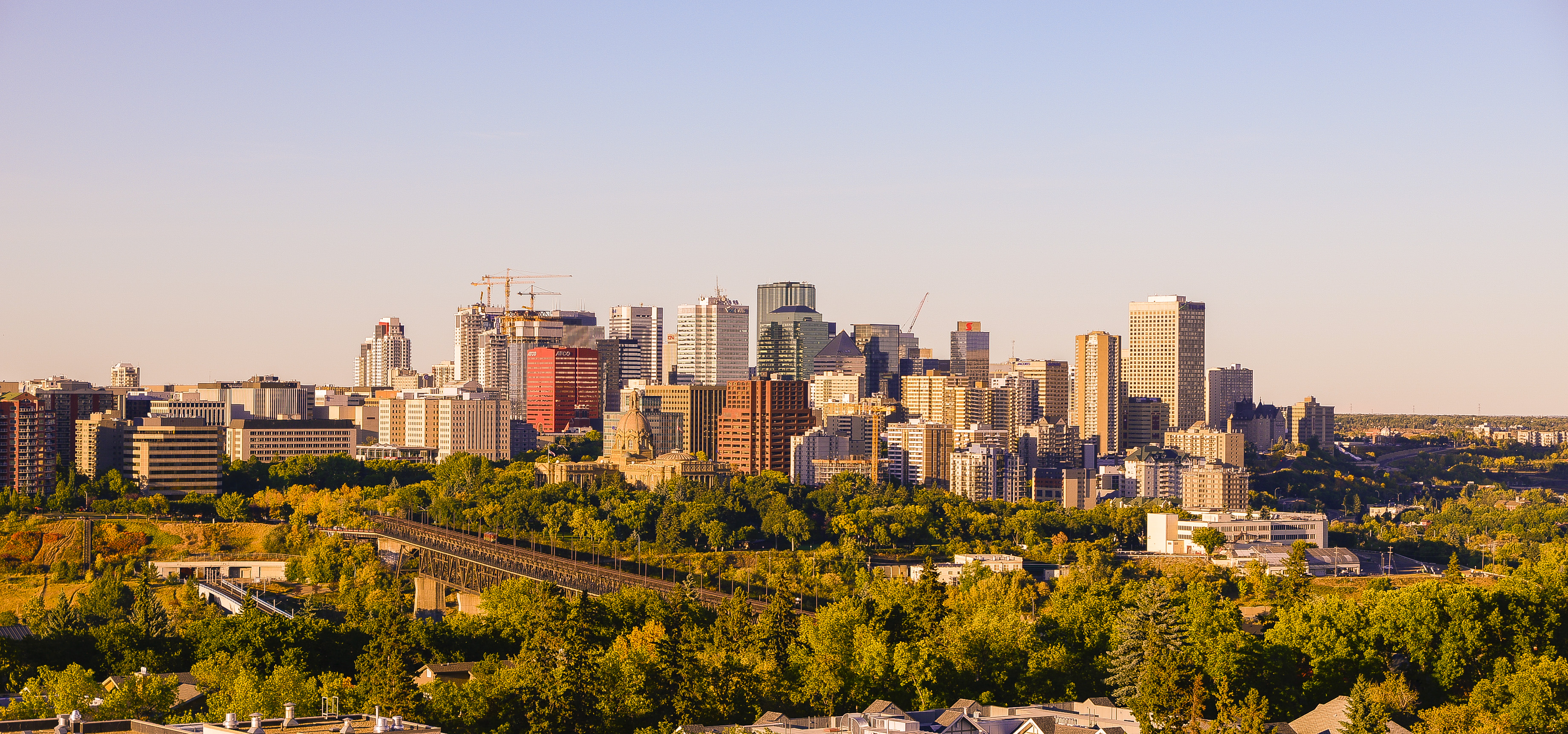 North America; Canada; Alberta; Edmonton; City Scape; City Skyline; Edmonton City Skyline; Edmonton City View; Urban; Nikon D800