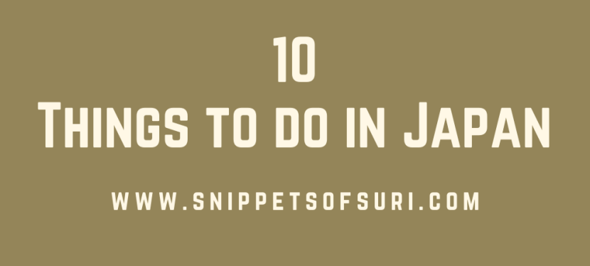 10 Things to do in Japan
