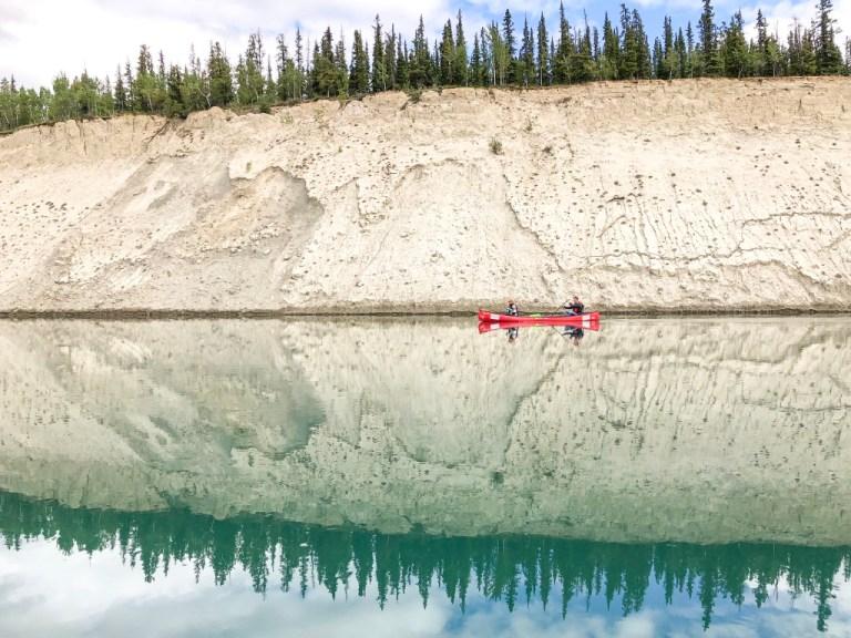 North America; Canada; Yukon Territory; Yukon; Yukon River; Canoeing; Lunch On The Canoe; Landscape; Nature; Food; iPhoneX