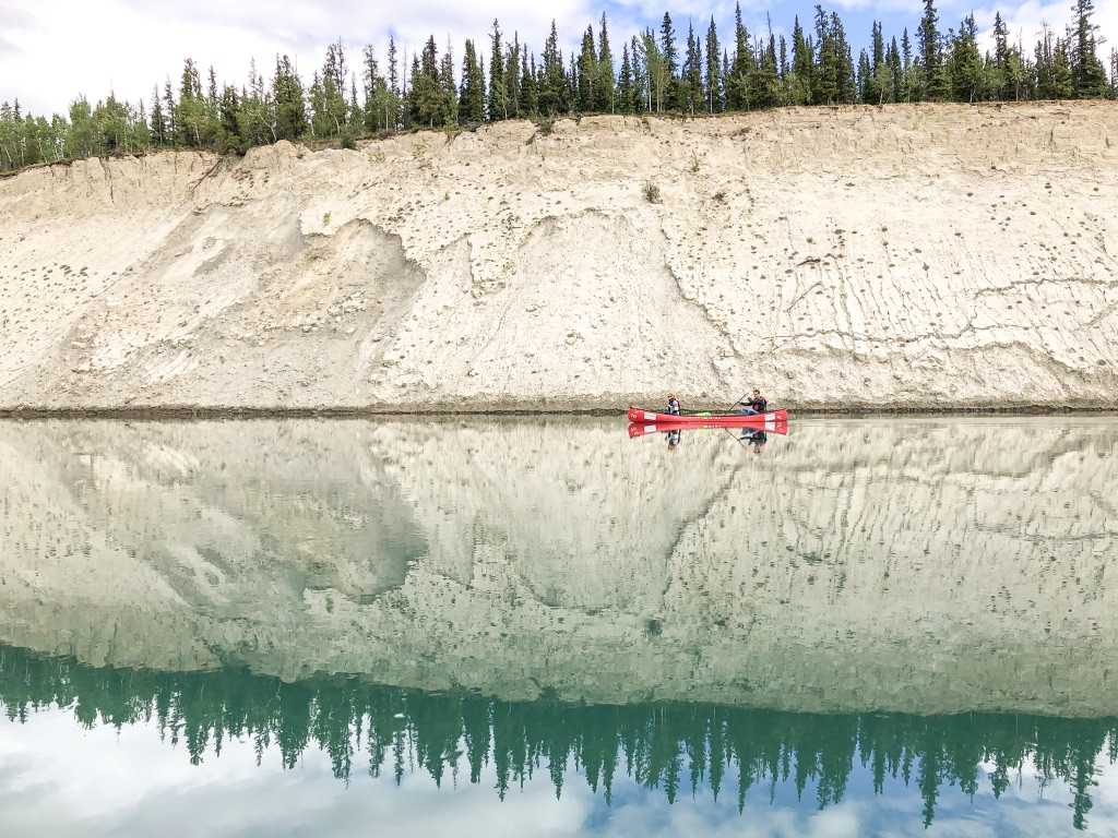 North America; Canada; Yukon Territory; Yukon; Yukon River; Canoeing; Lunch On The Canoe; Landscape; Nature; Food; iPhoneX