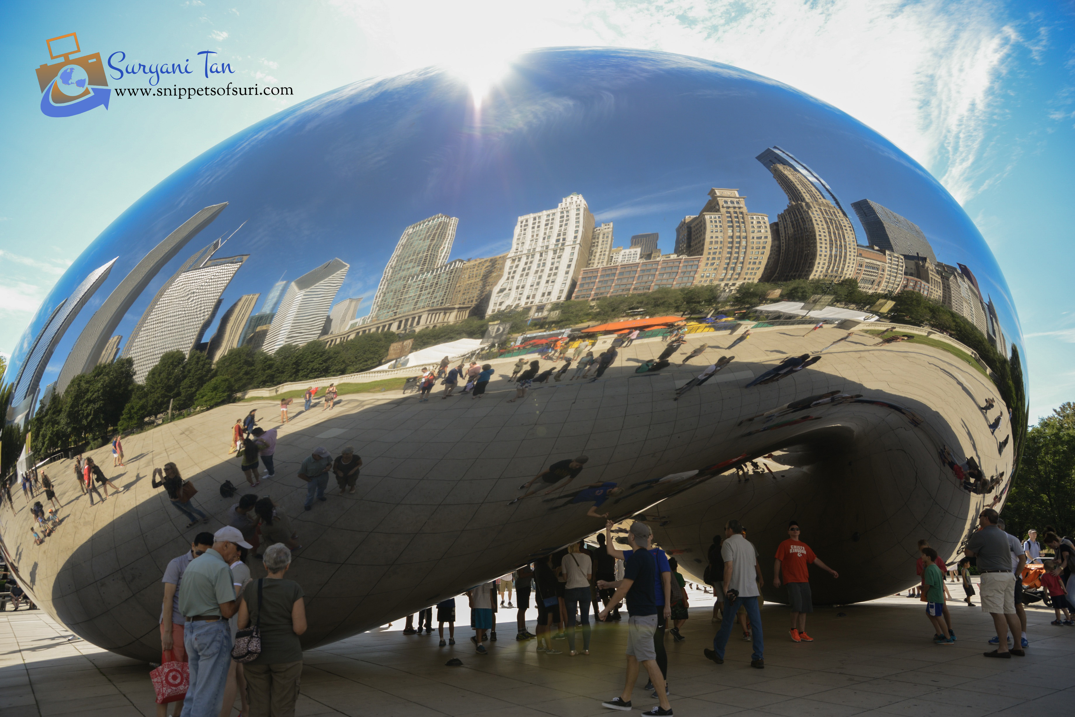 Cloud Gate, The Bean, Chicago, Illinois, USA