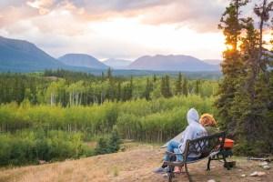 North America; Canada; Yukon Territory; Yukon; Boréale; Sunset; Views; Landscape; Mountains; Nature; Nikon D800