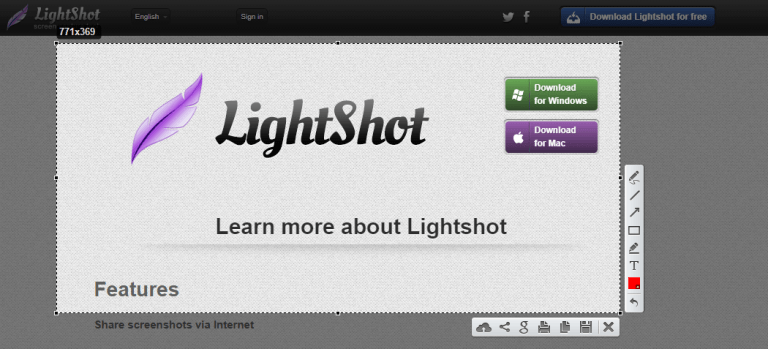 Lightshot on Windows