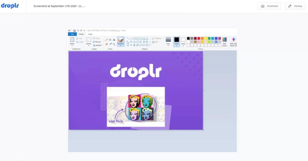 Droplr - Save Screenshot