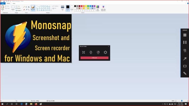 record screen using monosnap