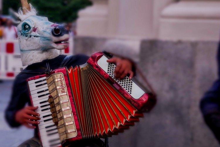 Musikalische Unterhaltung am Marienplatz
