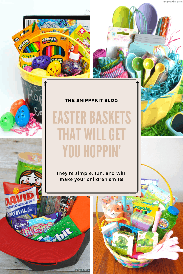 Check out these creative Easter 'basket' ideas for toddlers and teens! They use fun, practical spring gift ideas to create an unforgettable Easter basket!
