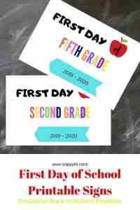 First Day of the School Printable Freebie