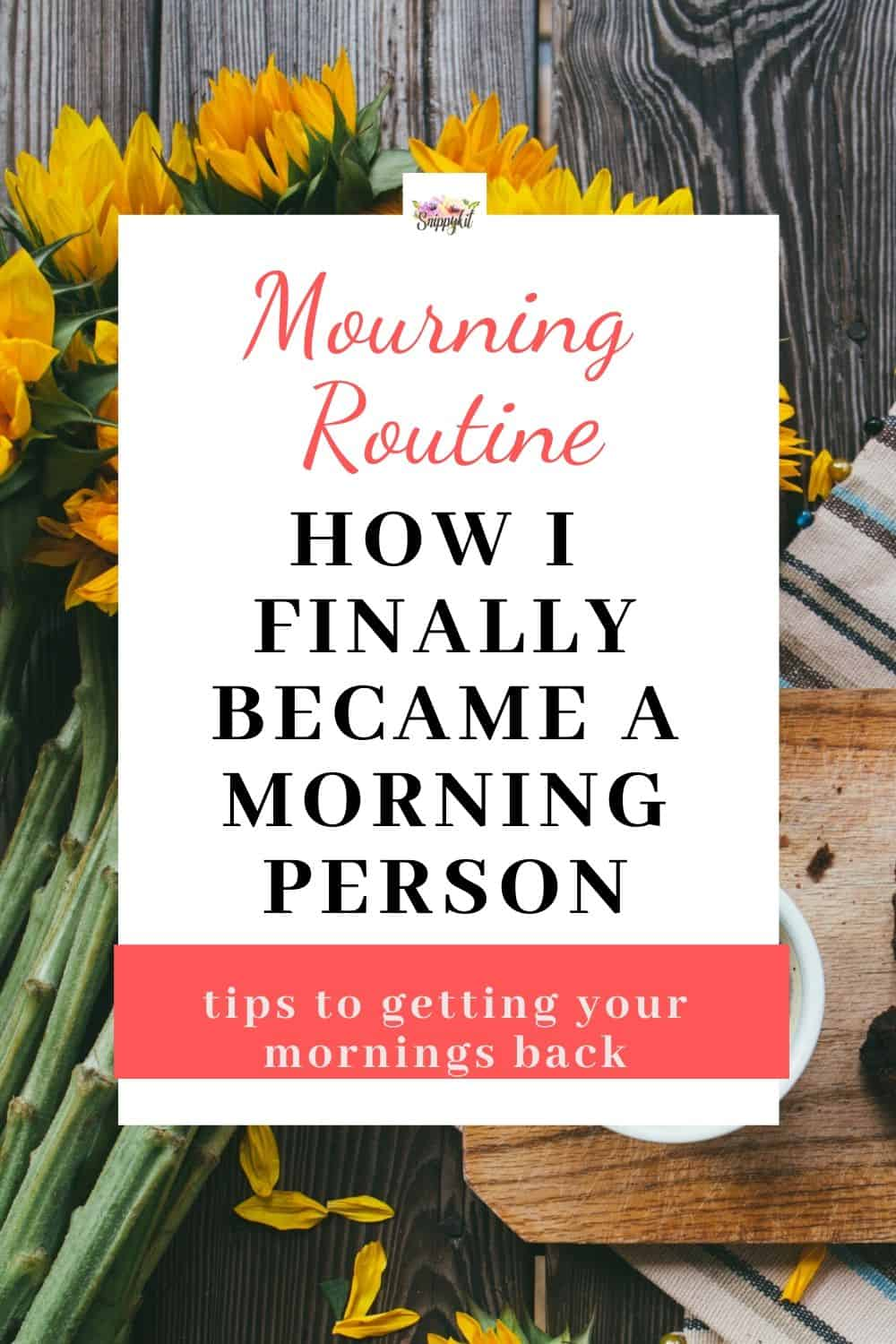 Finding it difficult to become a morning person? These simple hacks will help you wake up energized and become a morning person in no time! Master your morning routine (and no, you don't have to wake up at 5AM!) #morningroutine #morning #morningmotivation