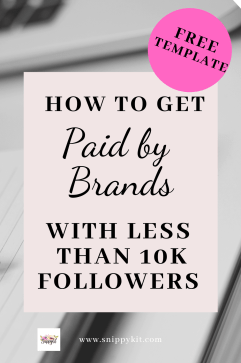 Learn how to work with brands and actually get paid without having thousands and thousands of followers in this complete Guide!