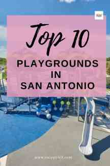 There are plenty of playgrounds in San Antonio you can visit and get some excess energy out.  Check out this guide of the top 10 playgrounds in the area.