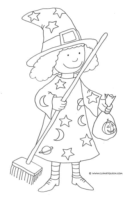 FREE Printable Halloween Coloring Pages - Snippykit