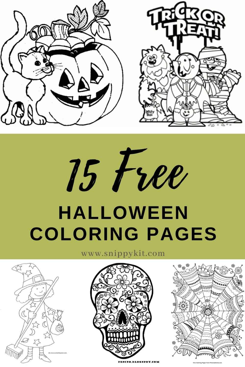 Stay happy and relax with free Halloween coloring pages - with over 15 printables there's bound to be something they'll love!