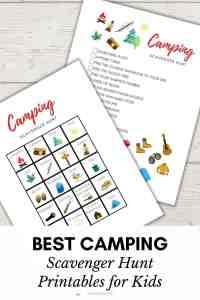 Free Camping Scavenger Hunt Printable