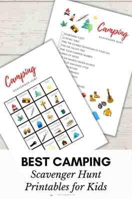 Best Camping Scavenger Hunt Printable