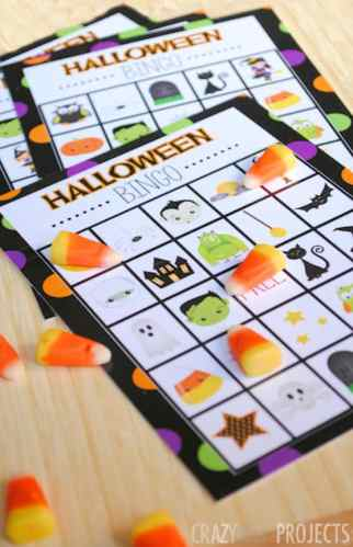 halloween bingo game for kids