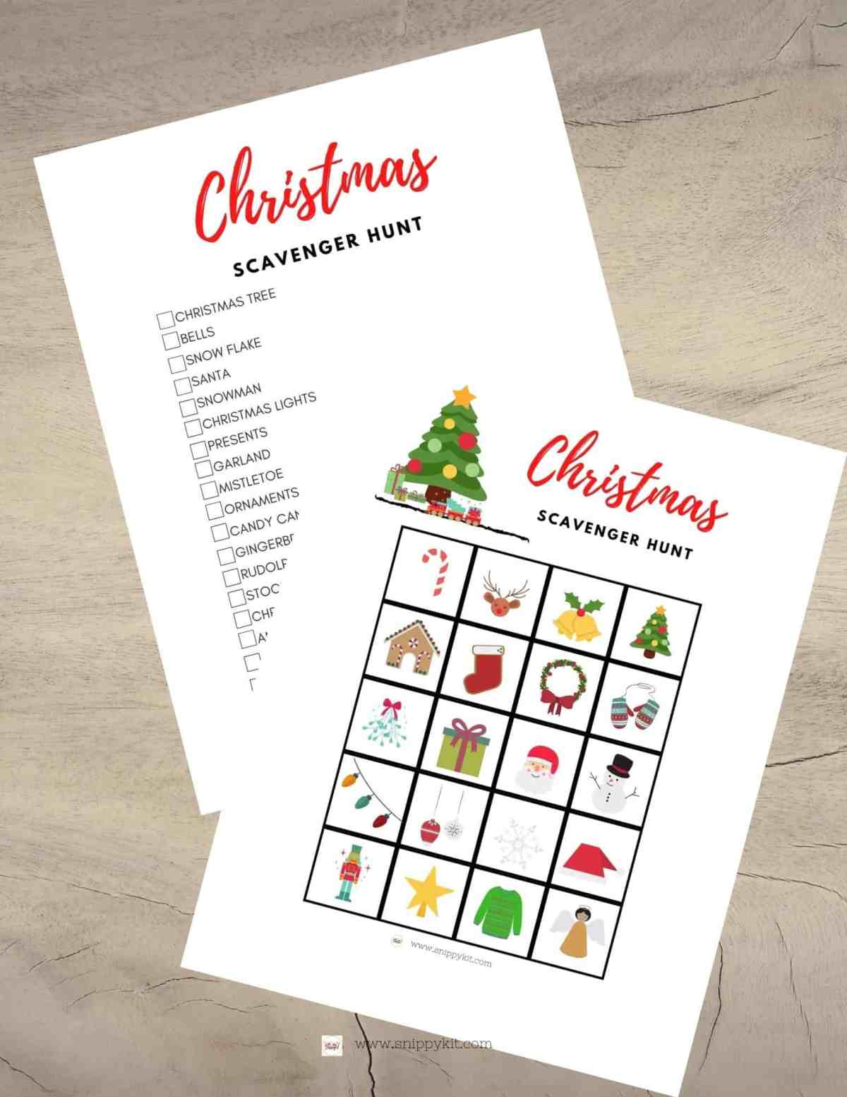 Driving around to look at Christmas lights has never been so fun with this Free Christmas Scavenger Hunt Printable.