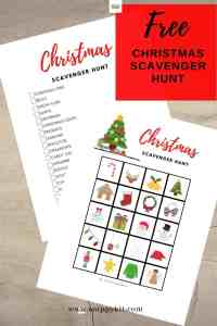 FREE Festive Christmas Scavenger Hunt Printable