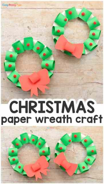 paper christmas wreaths crafts for kids