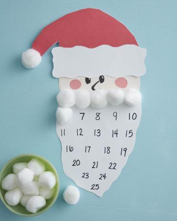 Santa Advant Calendar Christmas craft for kids