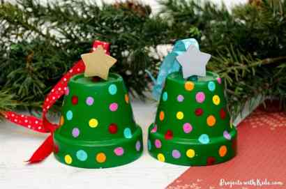 christmas tree pot ornaments craft for kids