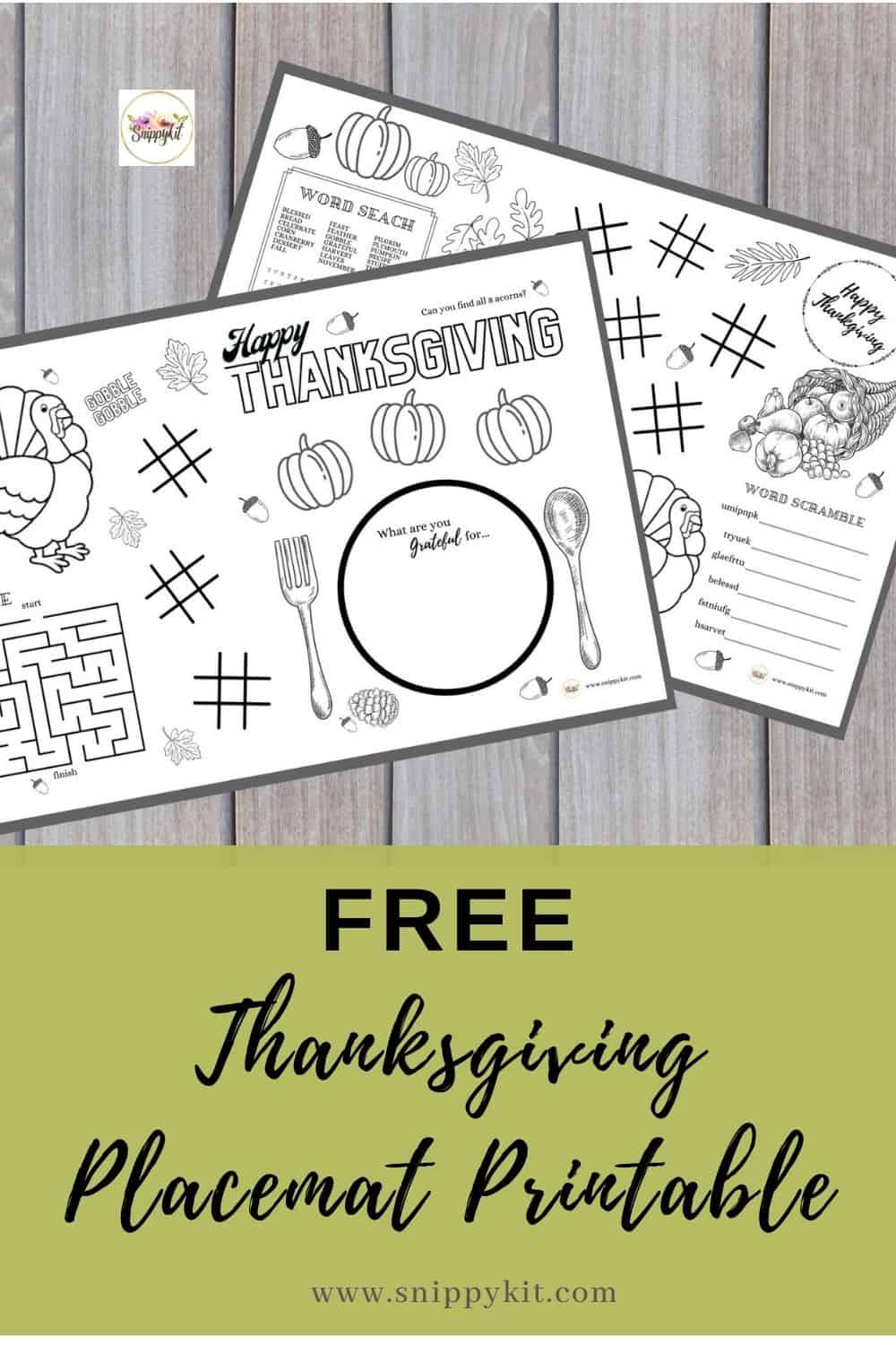 These adorable Thanksgiving placemats prinables have tons of games & activities to keep kids busy before, during, & after Thanksgiving dinner!