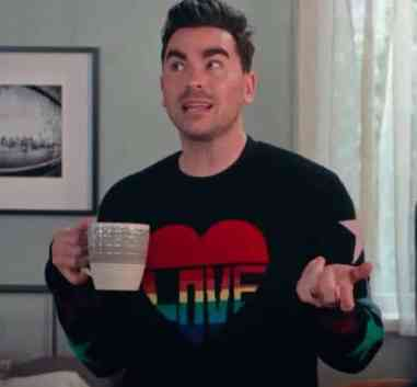 david rose heart-shaped love sweater