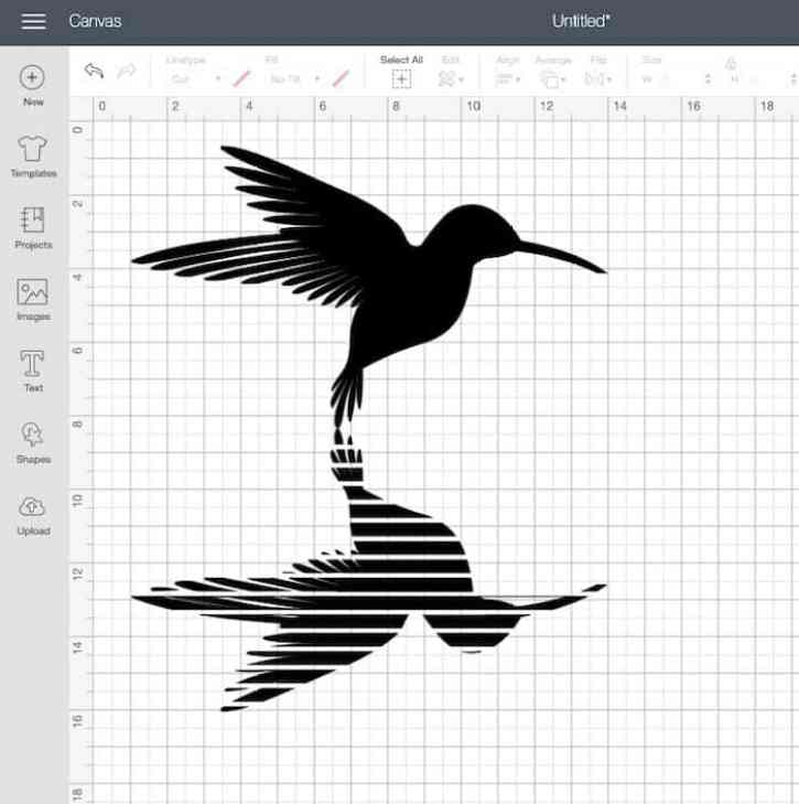 hummingbird svg in cricut design space