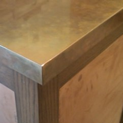 Stainless Kitchen Trash Can Cabinet Options Metals : Countertops: Snitz Creek Shop