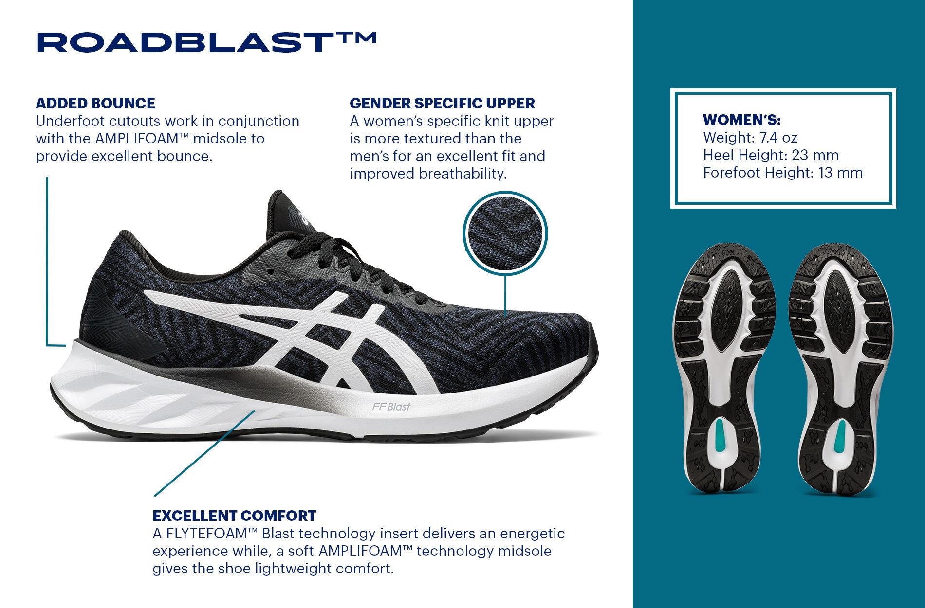 ASICS ROADBLAST รองเท้าวิ่งรุ่นใหม่ มาพร้อมโฟม FlyteFoam Blast