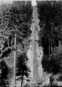 Top section of incline