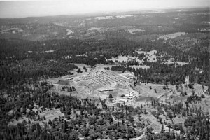 Aerial view of Sandy Gulch mill
