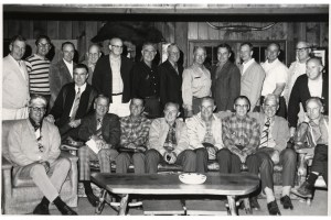 AFP bogwigs Bill Kuphalt 4th from right back
