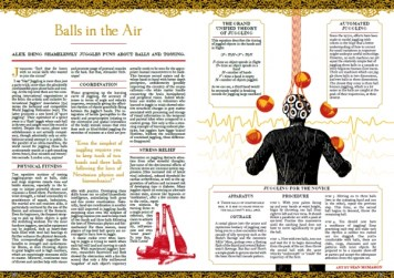 Layout and illustration for Oxford University science magazine, Bang! (2008)