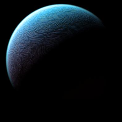 Fluffy cloud planet