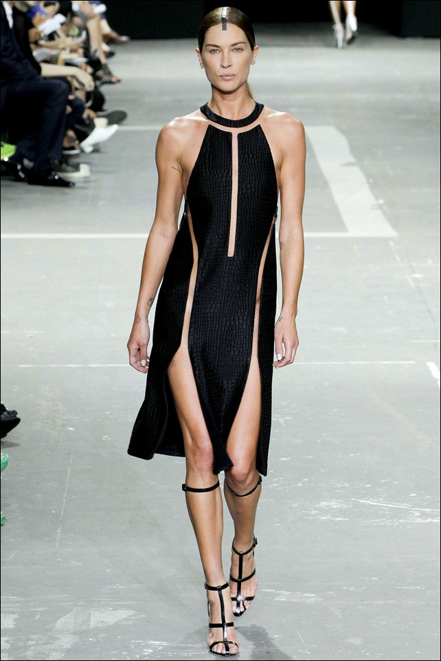 Alexander Wang SS2013 Croc Cutout Dress