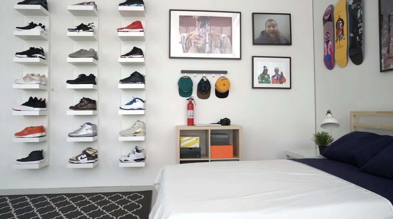 ultimate sneakerhead bedroom
