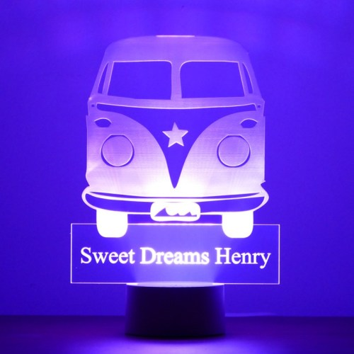 Personalised Camper Van Night Light