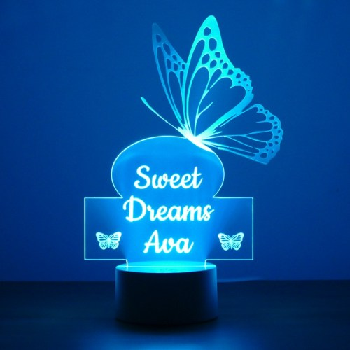Personalised Childrens Butterfly Night Light