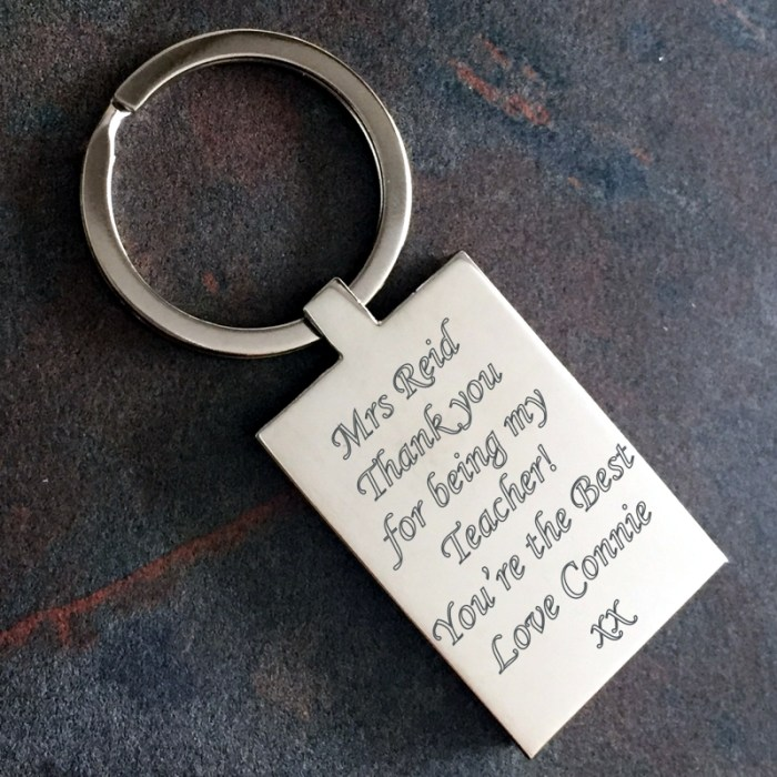 Engraved Keyring with personalised message