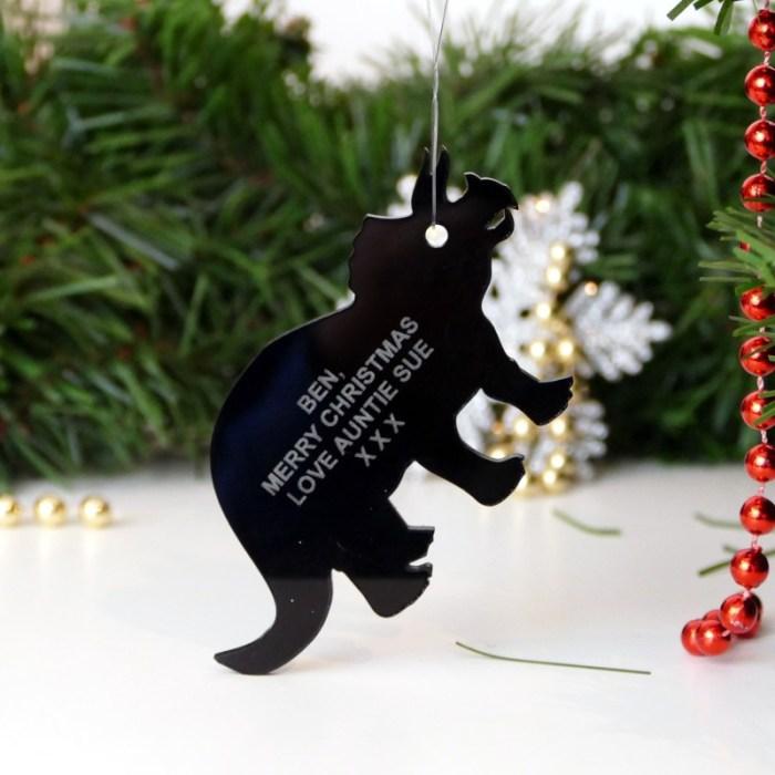 Personalised Dinosaur Christmas tree decoration