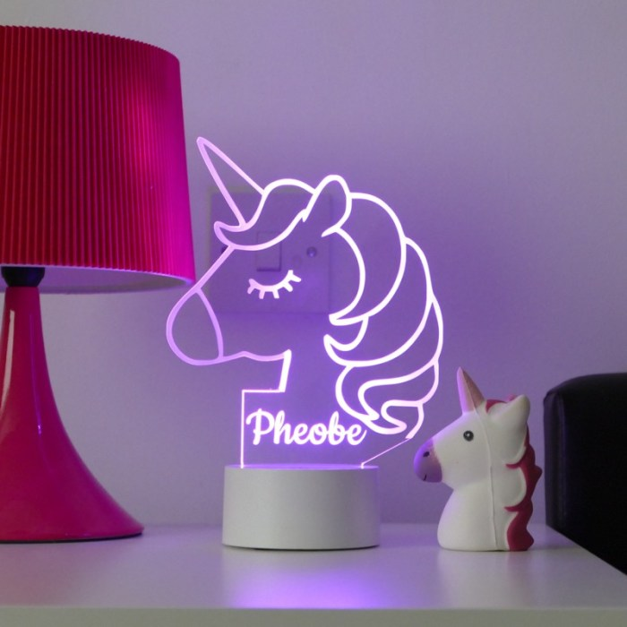 Personalised Unicorn Night Light