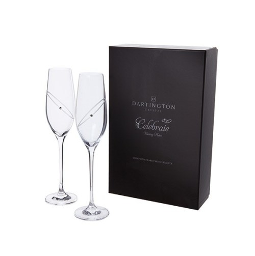Personalised Silver Celebration Champagne Flutes