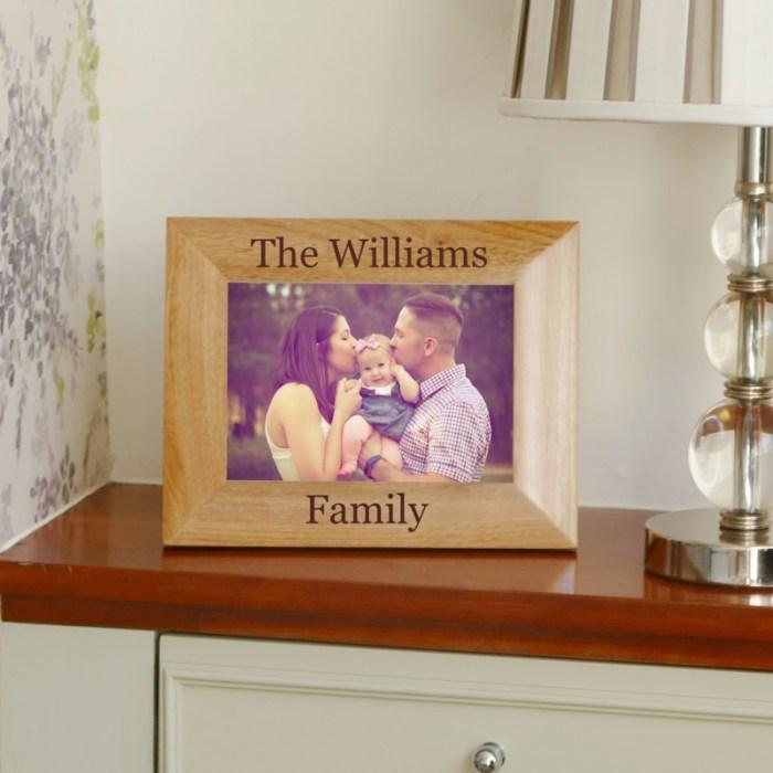 Personalised Family Name Photo Frame