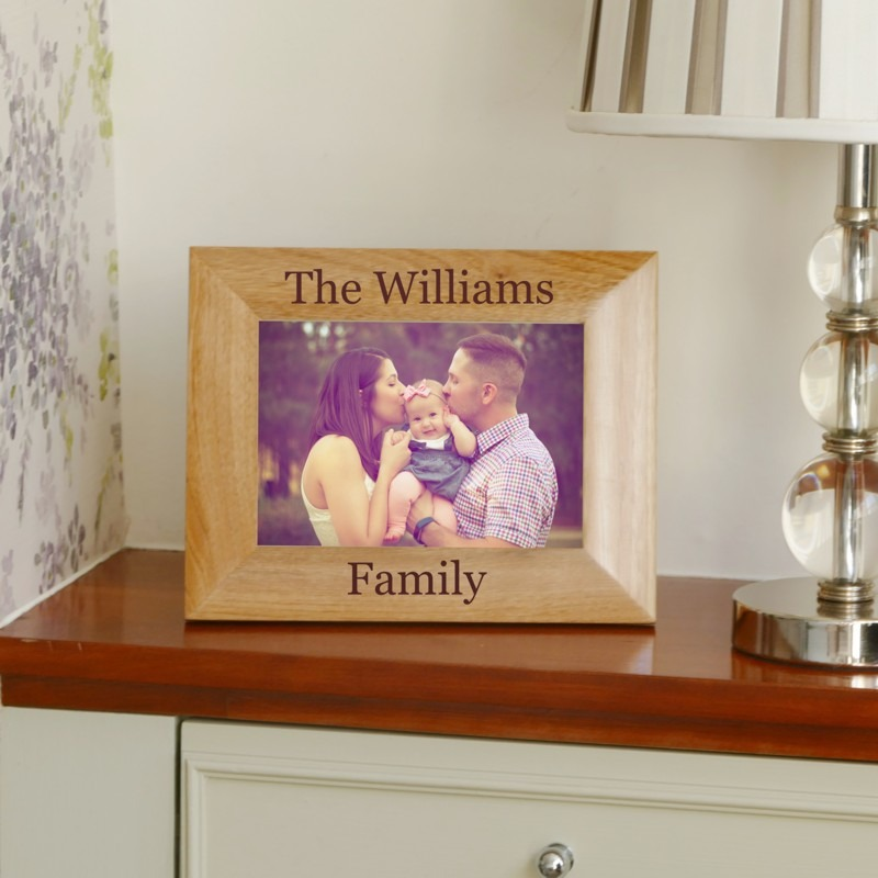 Personalised Family Name Photo Frame